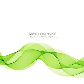 Sfondo moderno elegante onda verde