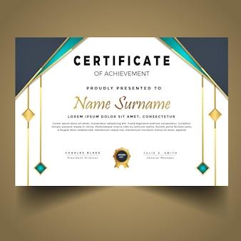 Modello di certificato di successo moderno
