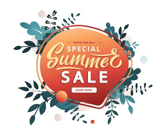 Modello di banner di vendita estiva moderna