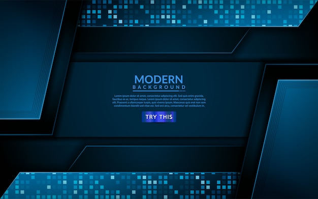 Sfondo blu di tecnologia moderna