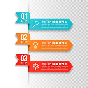 Modello moderno per la creazione di infografiche
