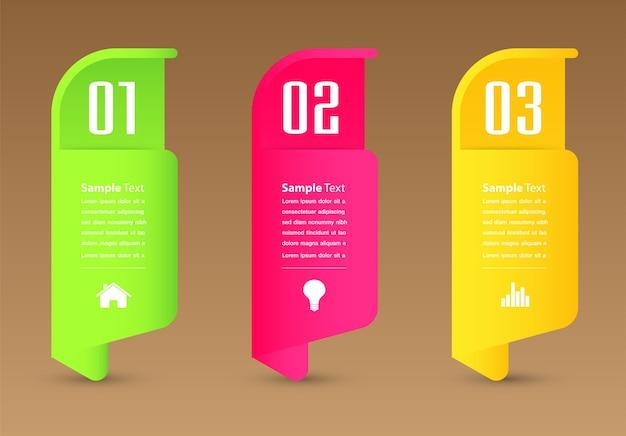Modello di casella di testo moderno, banner infografica