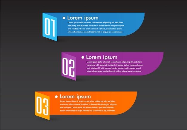 Moderna casella di testo modello banner infographics