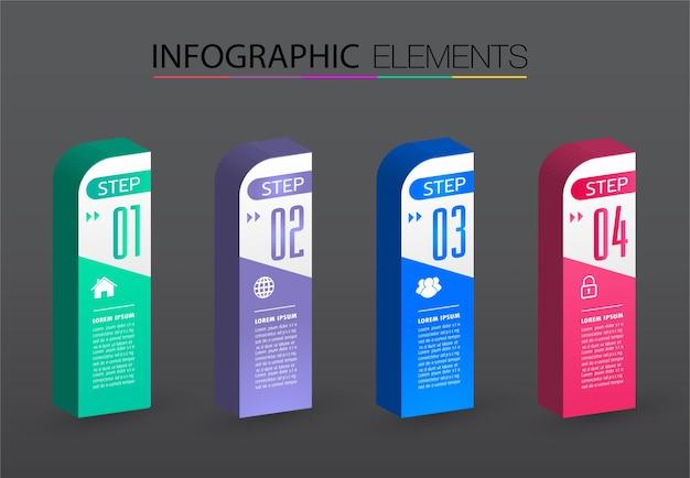 Banner modello moderno casella di testo infografica