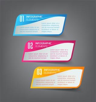Modello di casella di testo moderno infographics