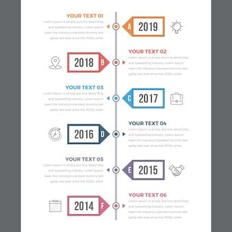 Timeline moderna infografica