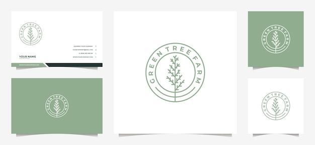 Logo albero moderno e biglietto da visita