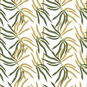 Modello senza cuciture delle foglie tropicali moderne. foglia tropicale estiva. carta da parati esotica hawaiana.