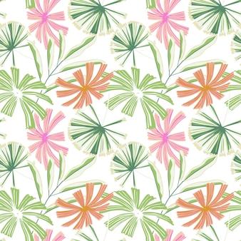 Modello senza cuciture di foglie di palma tropicali moderne. la giungla lascia la carta da parati botanica.