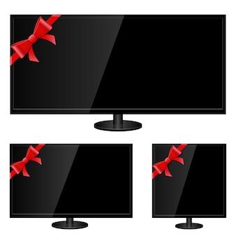 Illustrazione moderna della tv su fondo bianco