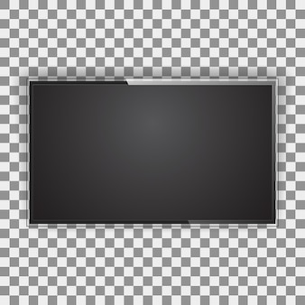 Schermo tv moderno, tipo led, vuoto lcd isolato. display del monitor nero