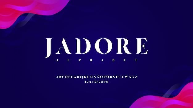 Carattere tipografico moderno con effetto curvo
