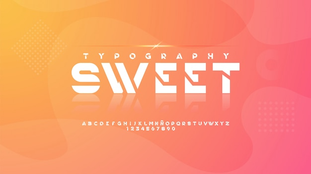 Tipografia moderna con splendidi glitter