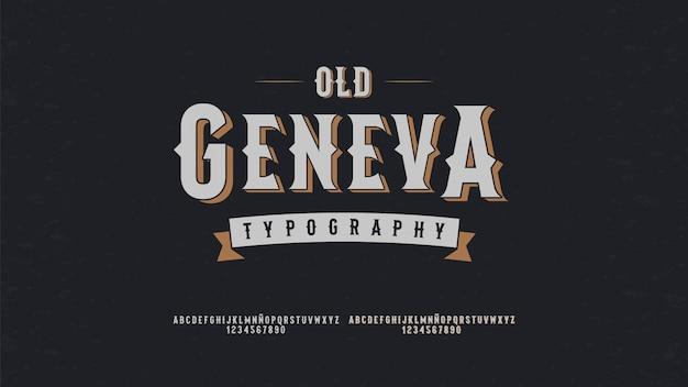 Tipografia moderna con il concetto vintage