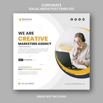 Modello di banner post social media marketing digitale unico e moderno