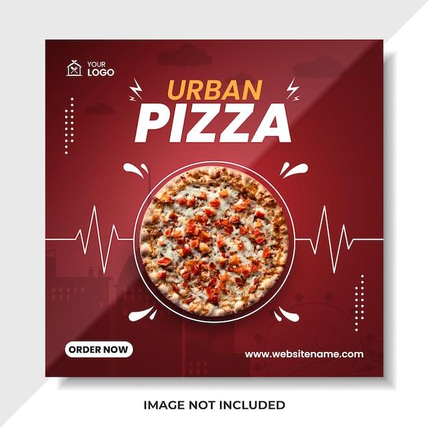 Modello di vettore di poster premium per banner social media cibo moderno stile urbano
