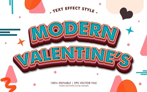 Stile moderno di effetti del testo di san valentino