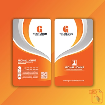 Design moderno per biglietti da visita verticali