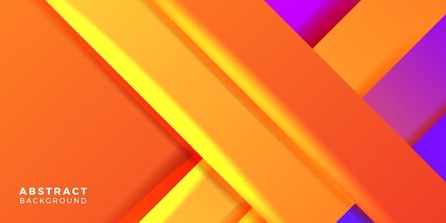 Moderno e vibrante geometrico arancione e blu viola viola bicolore astratto gradiente concetto copertina poster banner modello per tecnologia futuristica