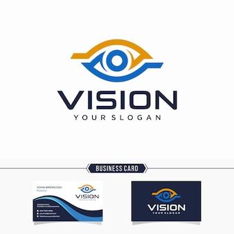 Logo e biglietto da visita di visione moderna