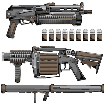 Armi moderne dell'esercito di guerra