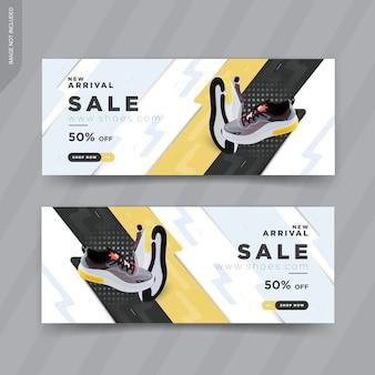 Design moderno di modelli di banner web