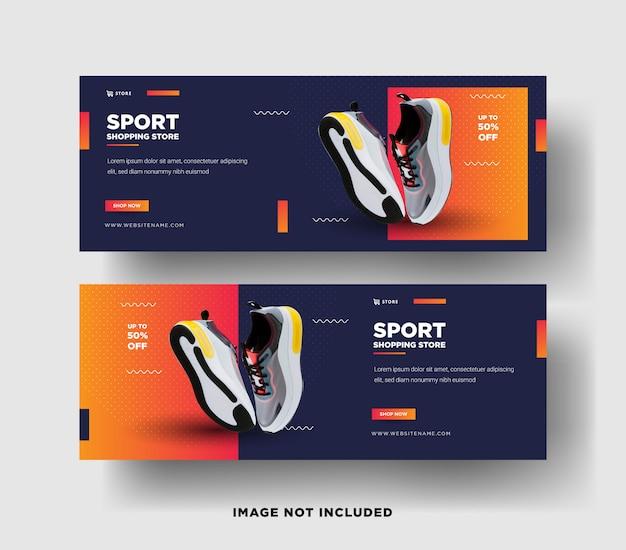 Set di modelli di banner web moderni