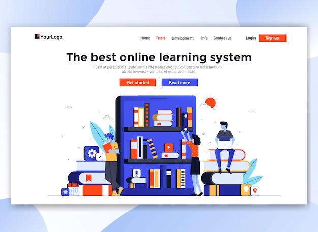 Moderno modello di sito web - formazione online