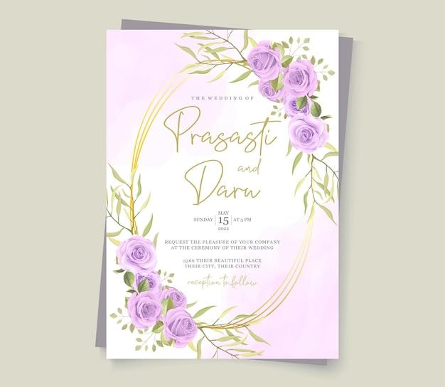 Carta di matrimonio moderna con disegno floreale