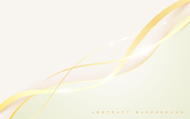 Luce scintillante dorata astratta moderna del backgroud bianco