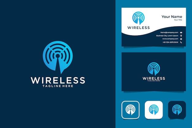 Design moderno logo wireless e biglietto da visita
