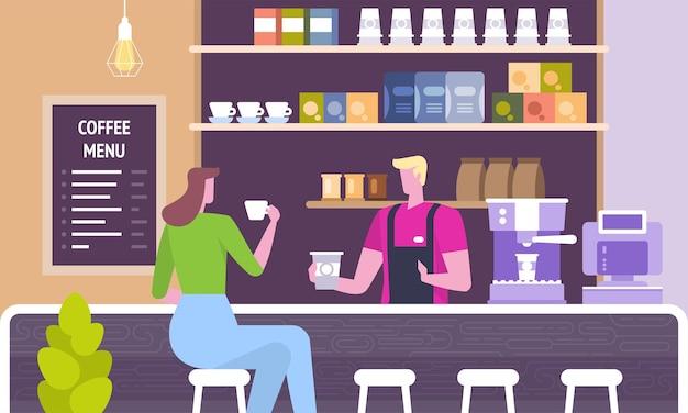 Interni moderni sul posto di lavoro. persone nel centro di co-working dell'ufficio creativo.