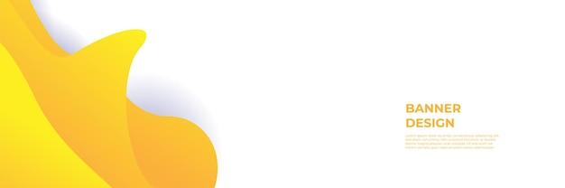 Fondo giallo arancione moderno della bandiera. modello astratto del fondo del modello dell'insegna di progettazione grafica di vettore.