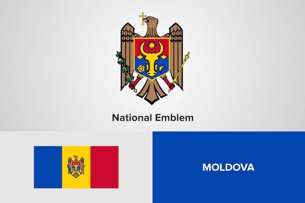 Modello di bandiera nazionale dell'emblema della moldova