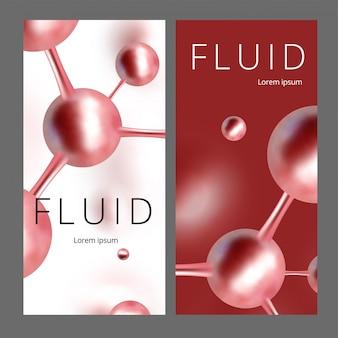 Banner molecolare astratta web. illustrazione. atomi. sfondo medico per banner o volantino.