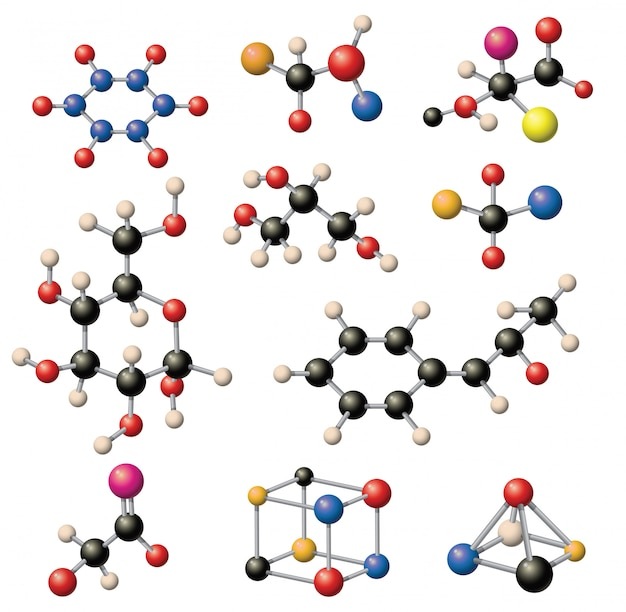 Set di strutture molecolari.