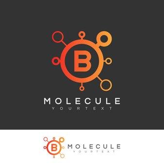 Molecola iniziale lettera b logo design