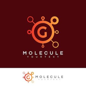 Molecola iniziale lettera g logo design