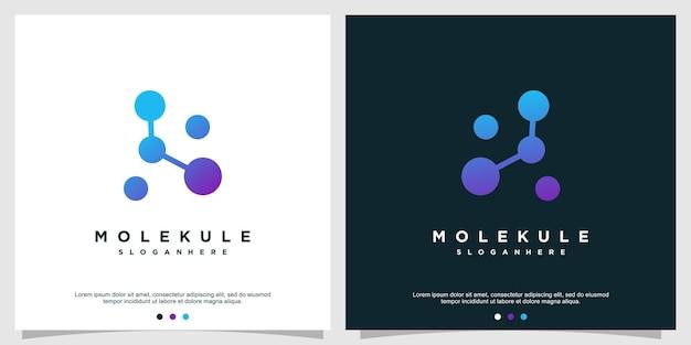Concetto di logo della molecola con uno stile creativo moderno vettore premium parte 2