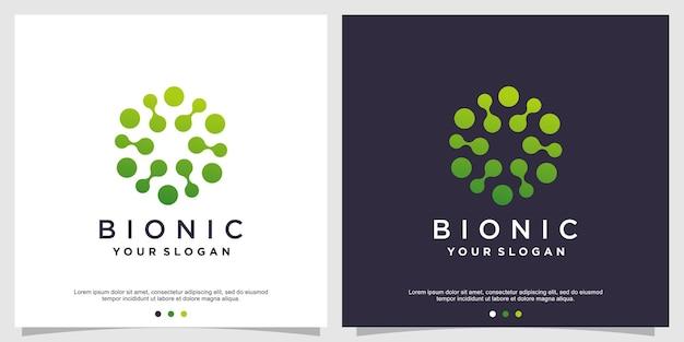 Design del logo della molecola vettore premium