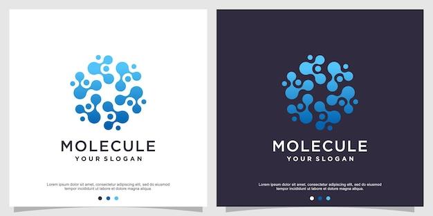 Modello di progettazione del logo della molecola vettore premium