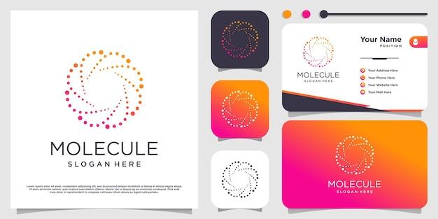Design del logo della molecola con uno stile moderno vettore premium