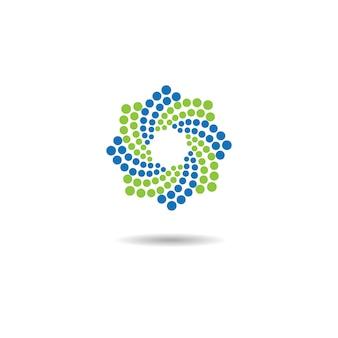 Modello di logo della molecola