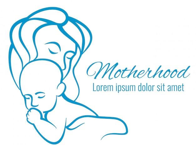 Ritratto di mamma e bambino