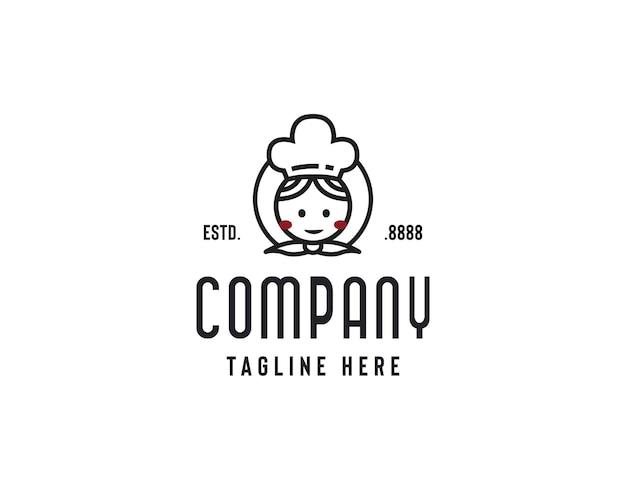 Mamme cucina logo design icona illustrazione