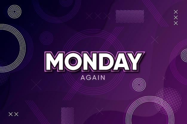 Lunedì di nuovo sfondo viola