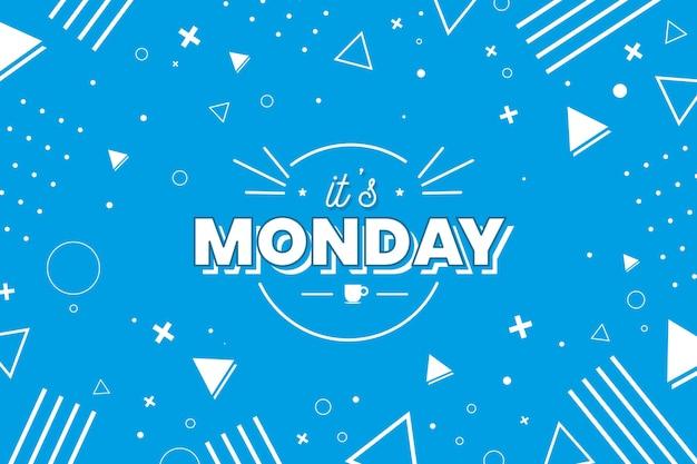 Lunedì buona giornata sullo sfondo di memphis