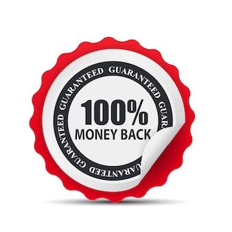 Modello di etichetta garantito con rimborso