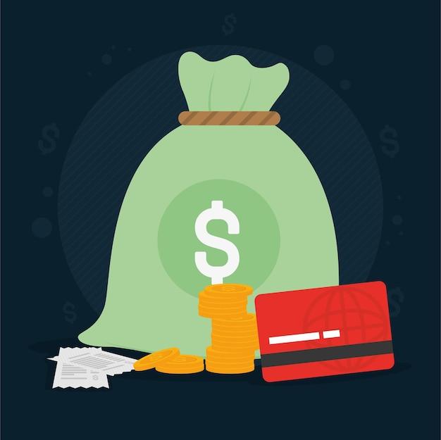Illustrazione della borsa dei soldi