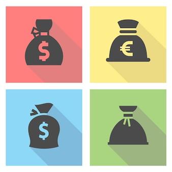 Set di sacchetti di denaro